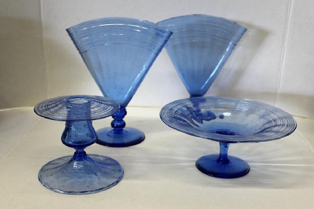Blue Murano Artglass Lot - 4 PCS