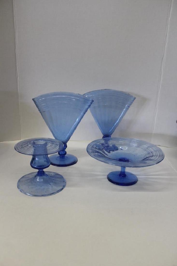Blue Murano Artglass Lot - 4 PCS - 2
