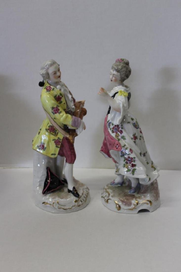 Pair of Meissen Style Figures - 3
