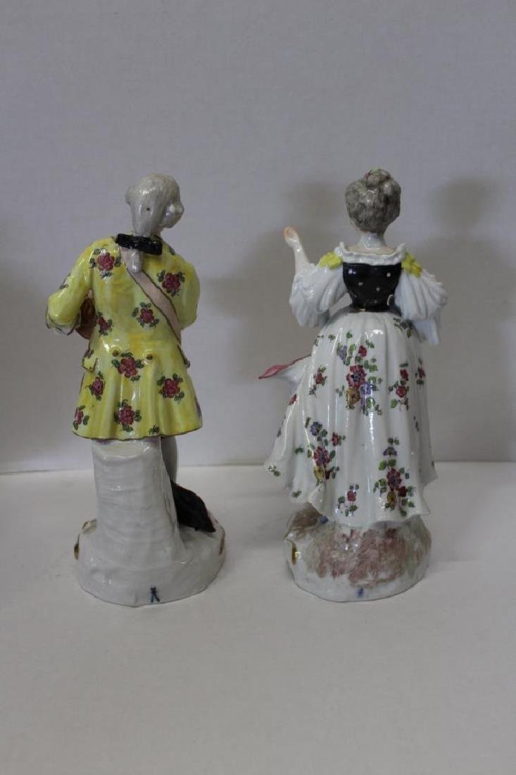 Pair of Meissen Style Figures - 4