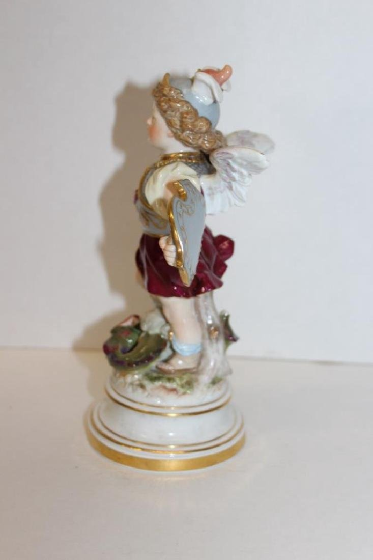 Early Meissen Winged Figure on a Serpant - 3