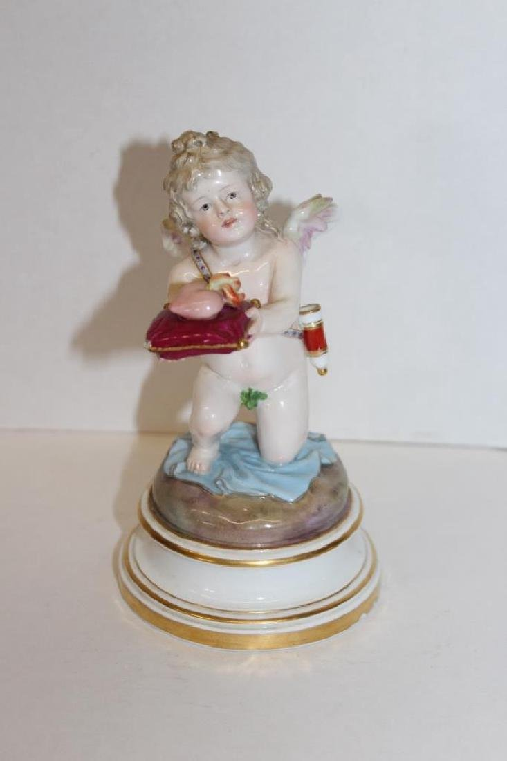 Early Meissen Cherub Offering Figure