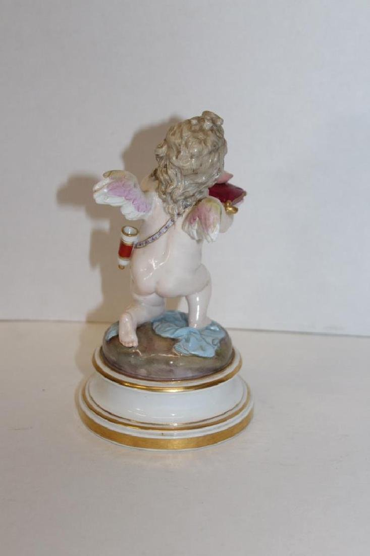 Early Meissen Cherub Offering Figure - 4