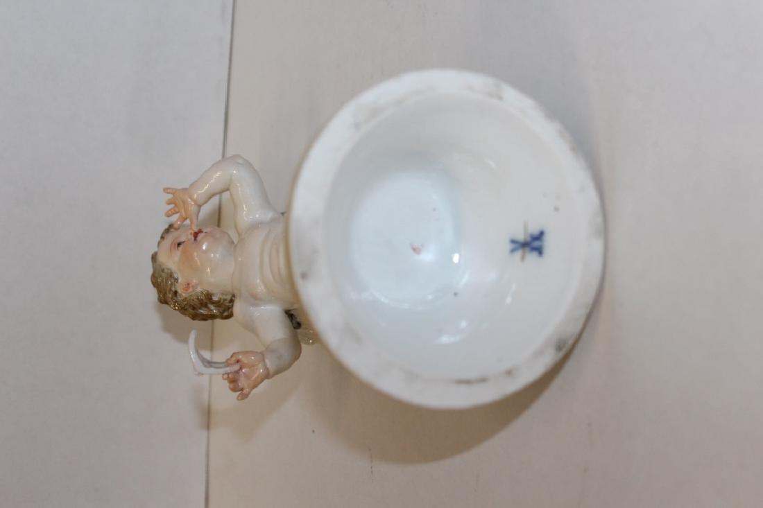 Early Meissen Masquerade Cherub Figure - 7