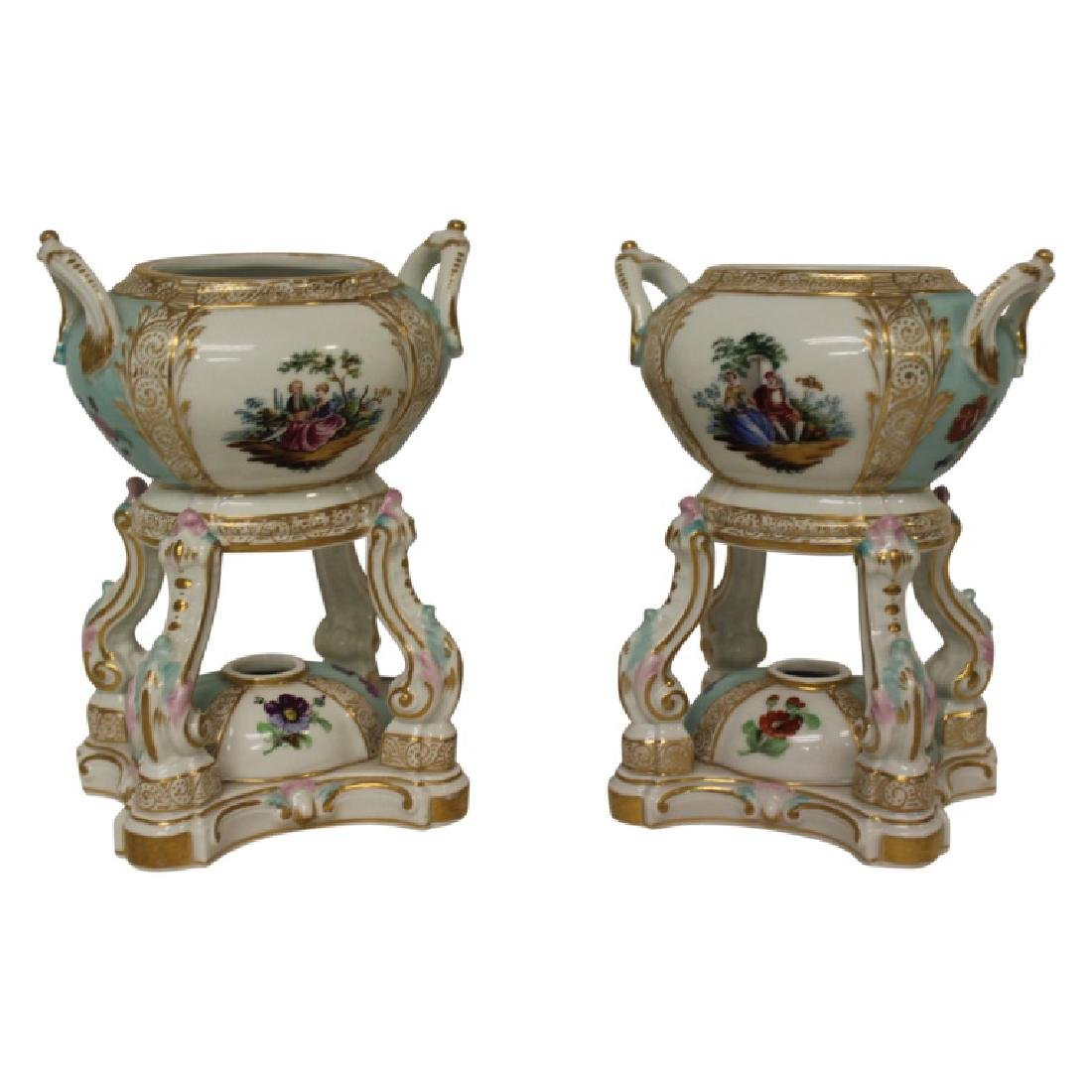 Pair of Meissen Censors