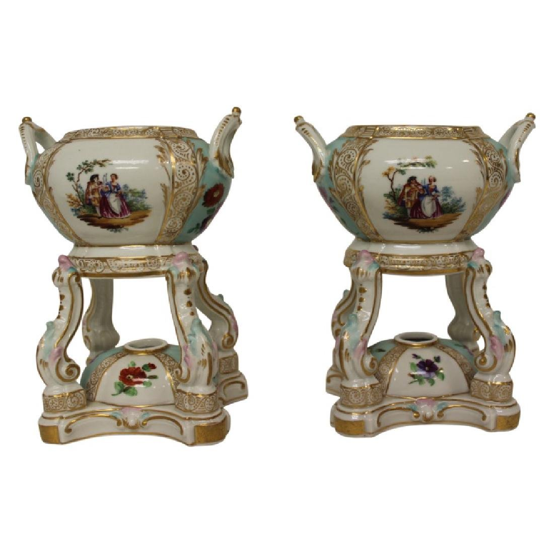 Pair of Meissen Censors - 2