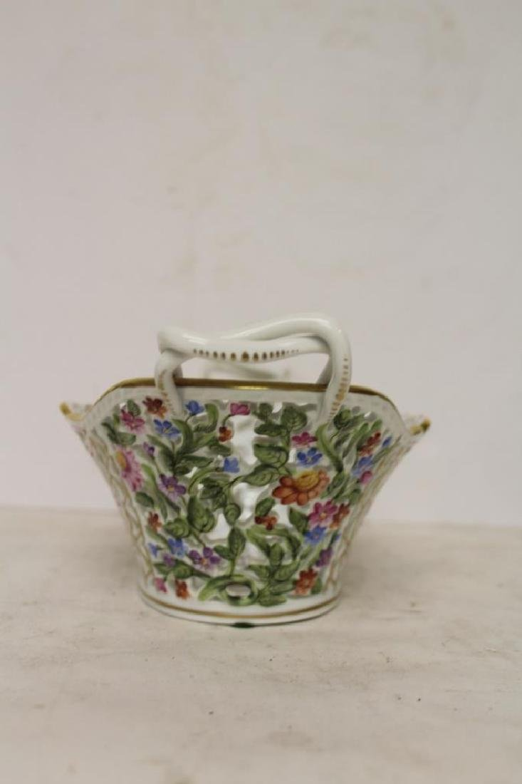 Herend Porcelain Handled Basket - 5