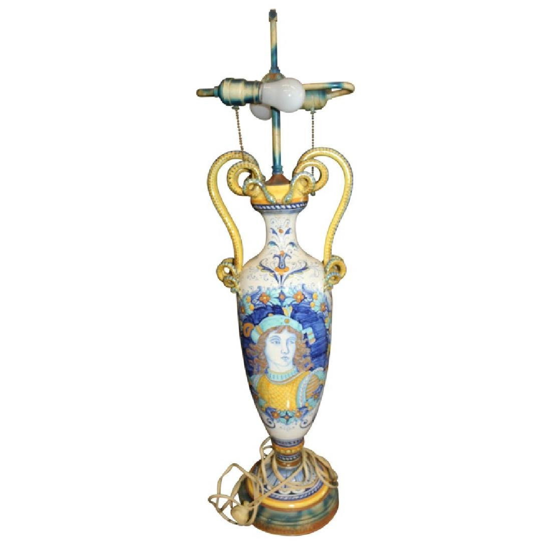 Pair of Porcelain Handled Lamps - 6