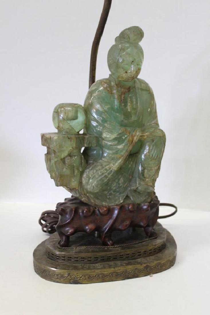 Asian Jade Guanyin Lamp