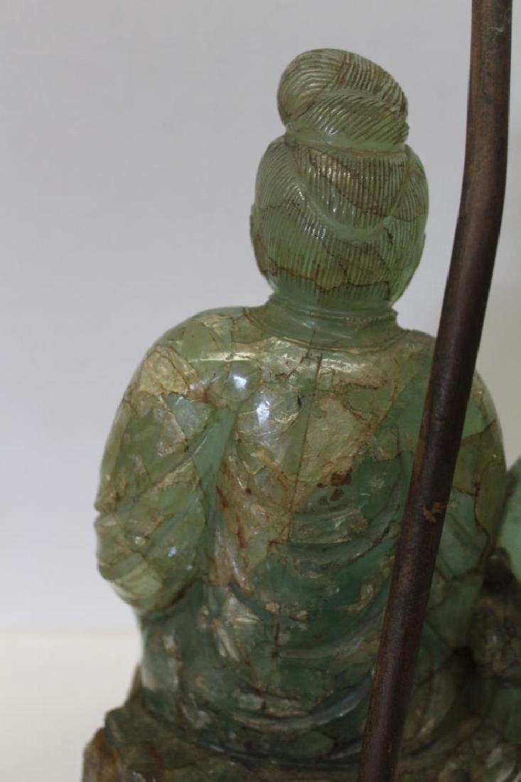 Asian Jade Guanyin Lamp - 2