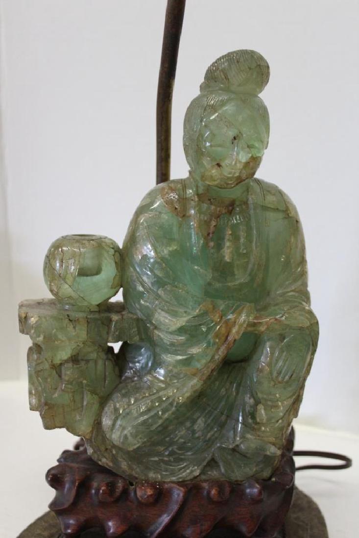 Asian Jade Guanyin Lamp - 3
