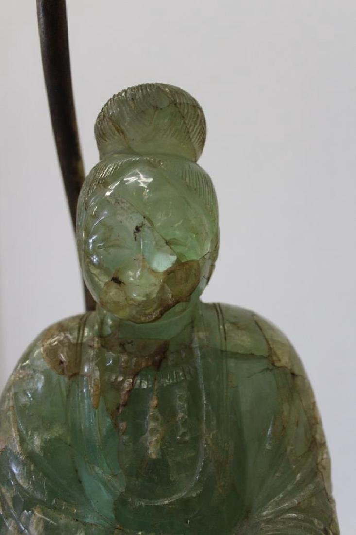 Asian Jade Guanyin Lamp - 4
