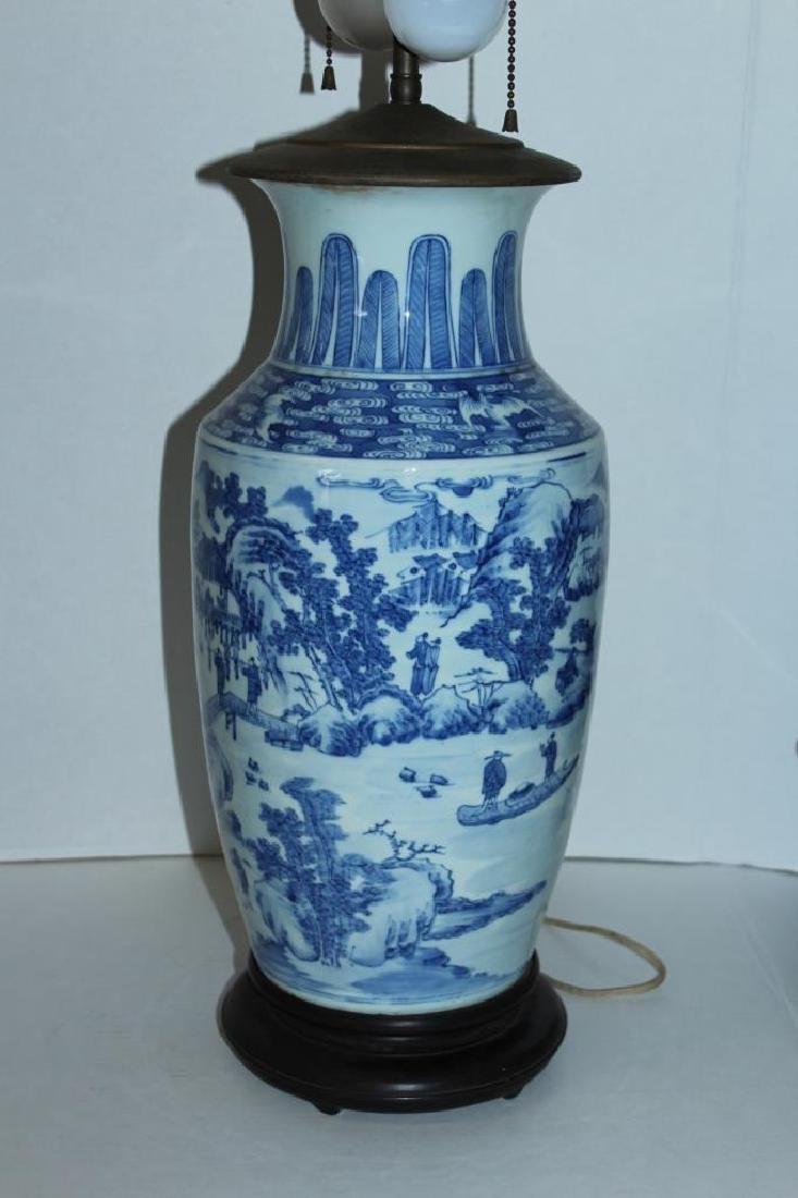 Asian Vase Lamp - 3