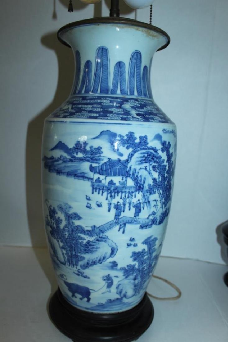 Asian Vase Lamp - 5