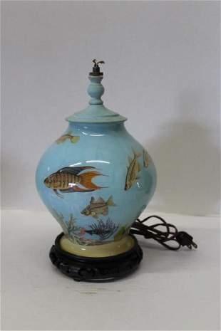 Asian Koi Vase Lamp