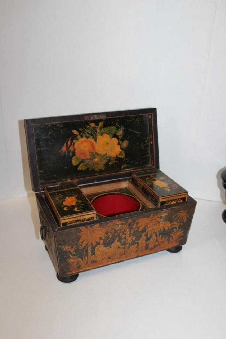 Asian Antique Tea Caddy - 2