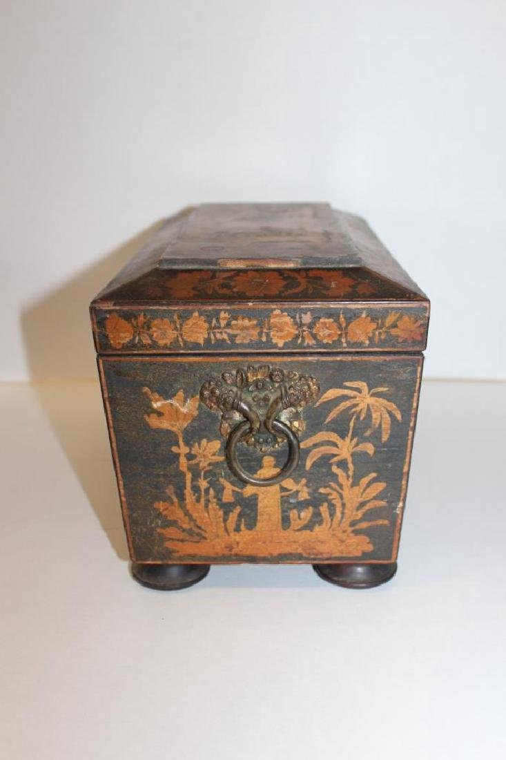 Asian Antique Tea Caddy - 3
