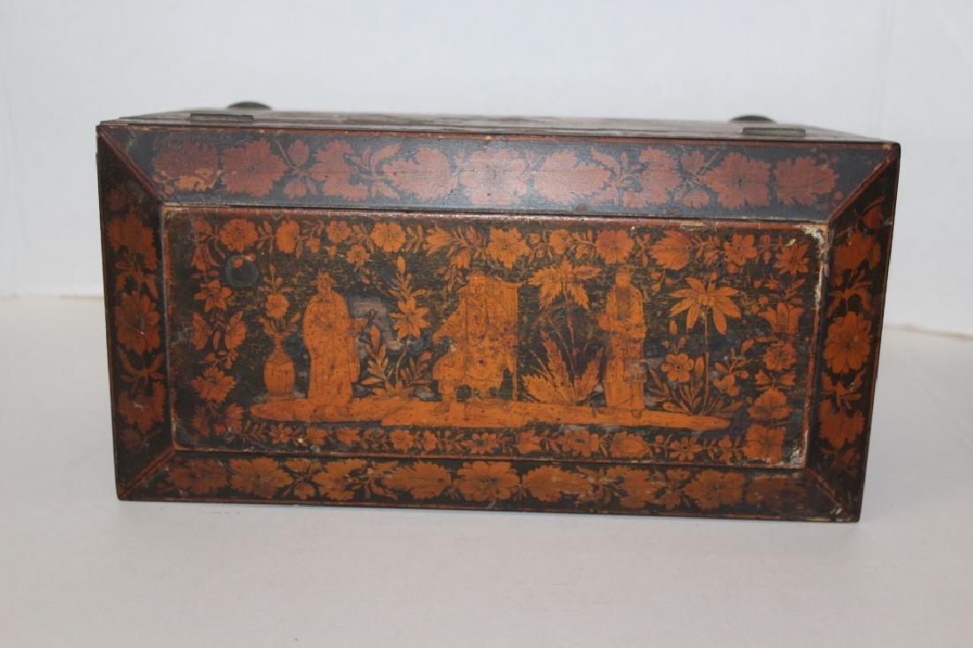 Asian Antique Tea Caddy - 5