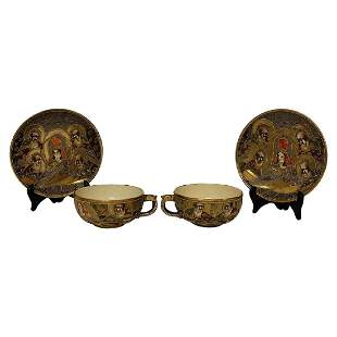 Pair of Asian Cups Saucers