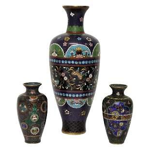 Cloisonne Vase Set - 3PCS