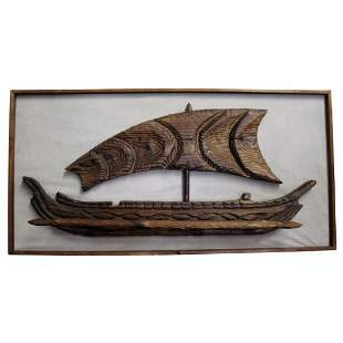 """""""Outrigger"""" by Tiki Witco Wall Artwork"""