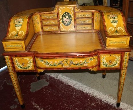 Maitland Smith Paint Decorated Carleton House Desk