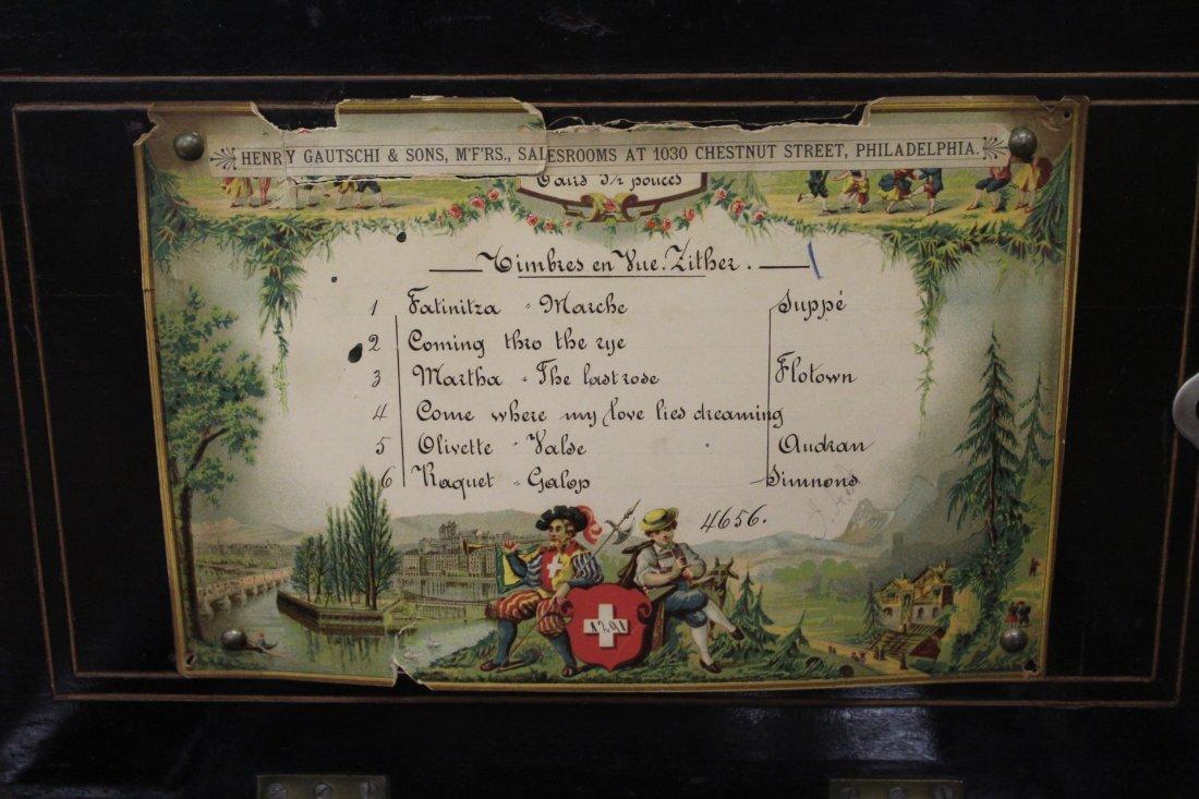 Swiss Music Box - Henry Gautschi & Sons Philadelphia PA - 8