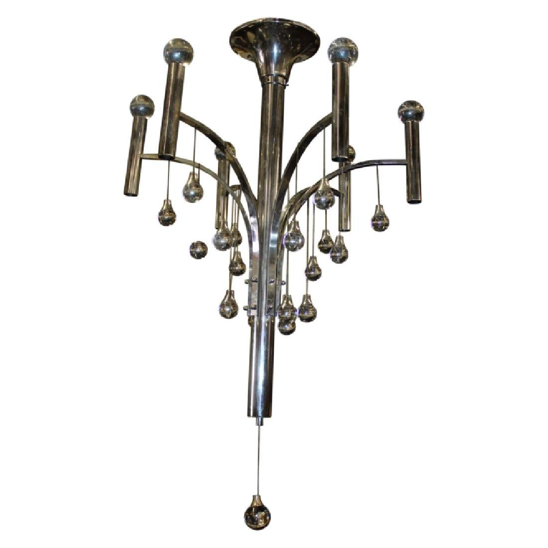Gaetano Sciolari Chrome Chandelier Small