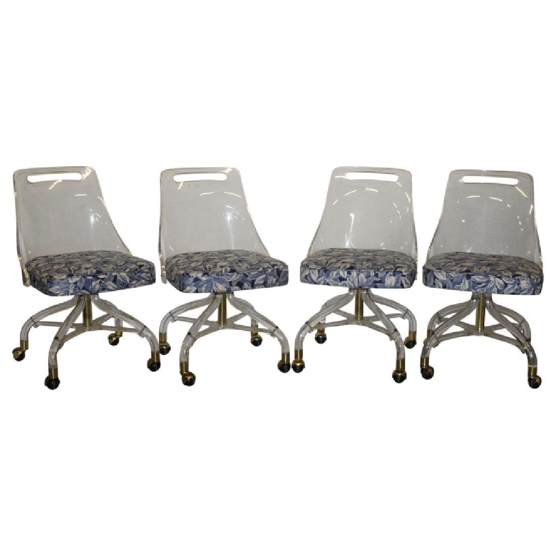 Set of 4 Hill Manufacturing Co. Lucite Chairs