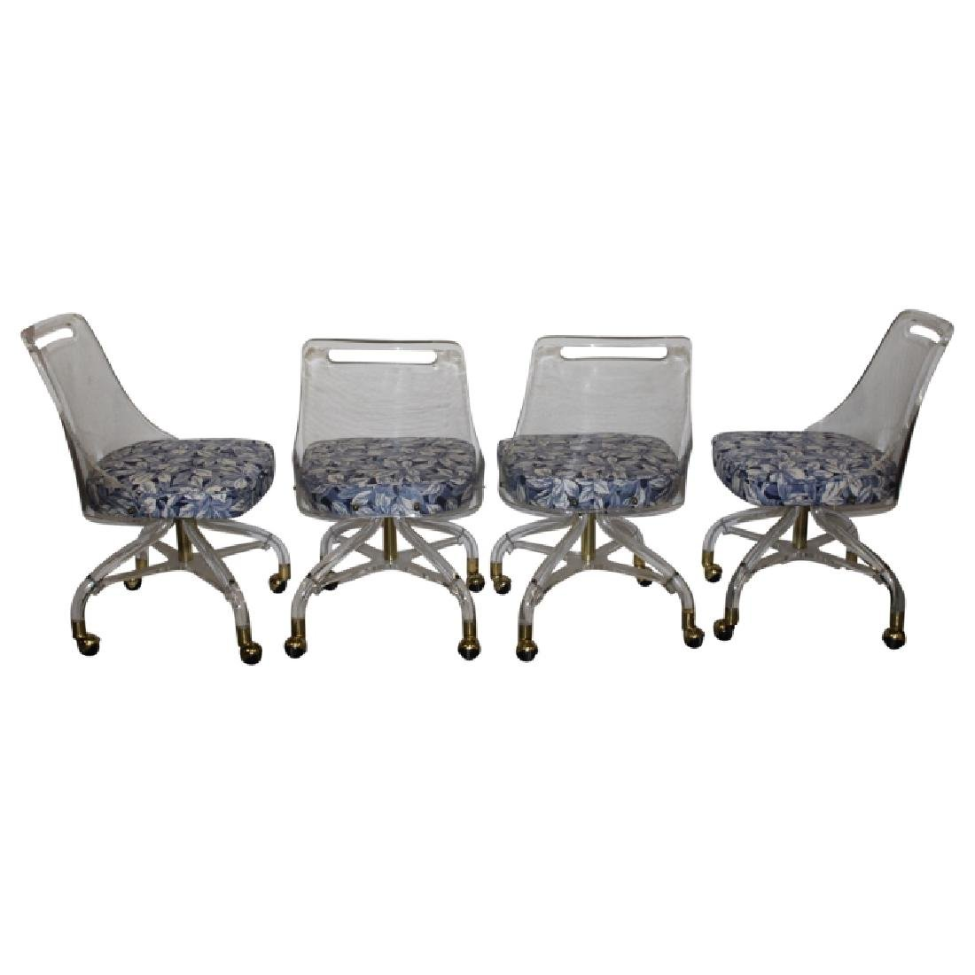 Set of 4 Hill Manufacturing Co. Lucite Chairs - 4