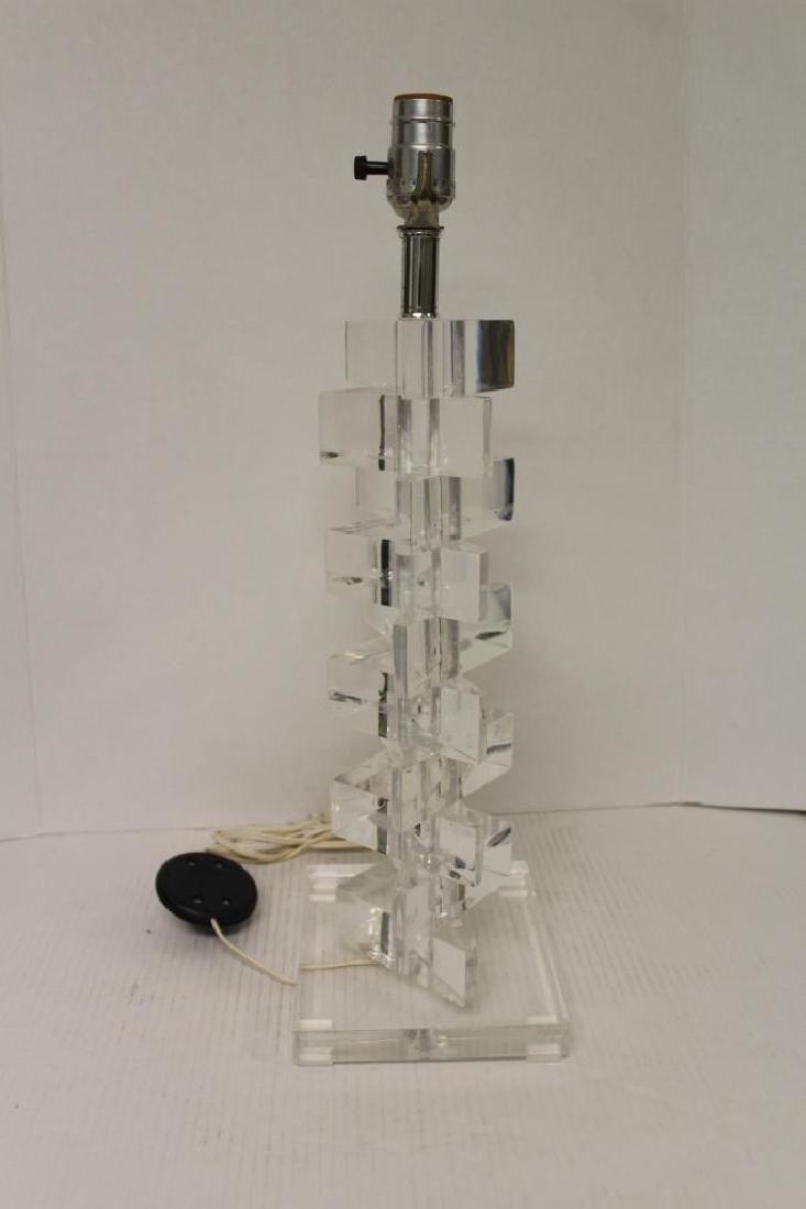 Modern Lucite Lamp - 3