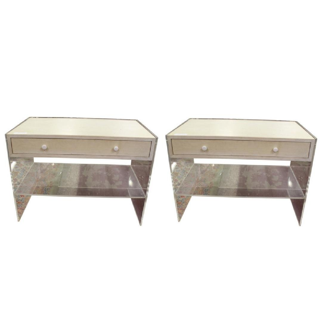 Pair of Lucite End Tables/Night Stands
