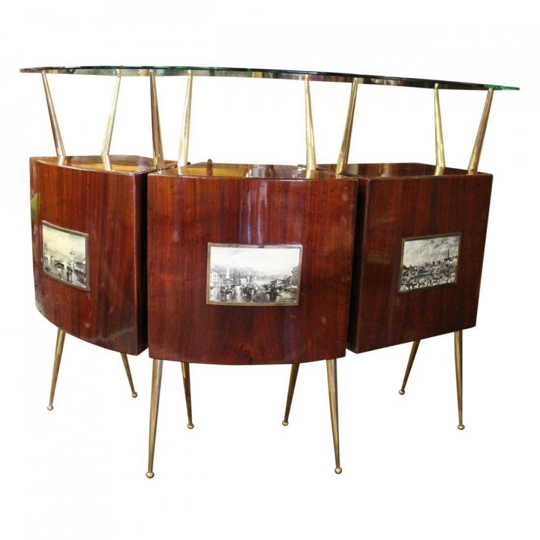 Gio Ponti Style Bar w/ Liquer Display Unit - 2
