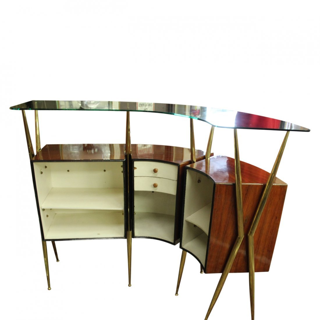 Gio Ponti Style Bar w/ Liquer Display Unit - 3