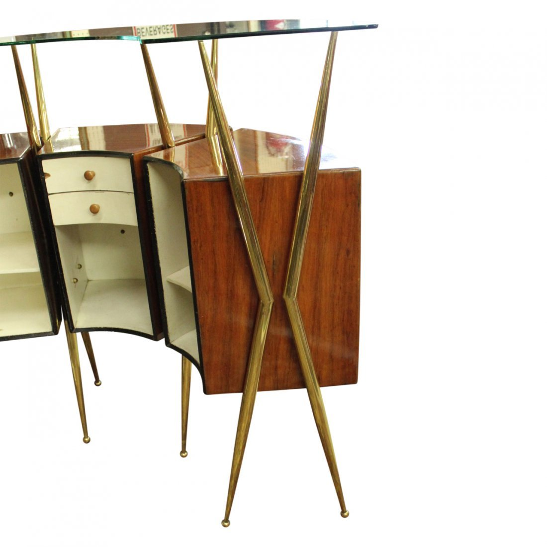 Gio Ponti Style Bar w/ Liquer Display Unit - 4