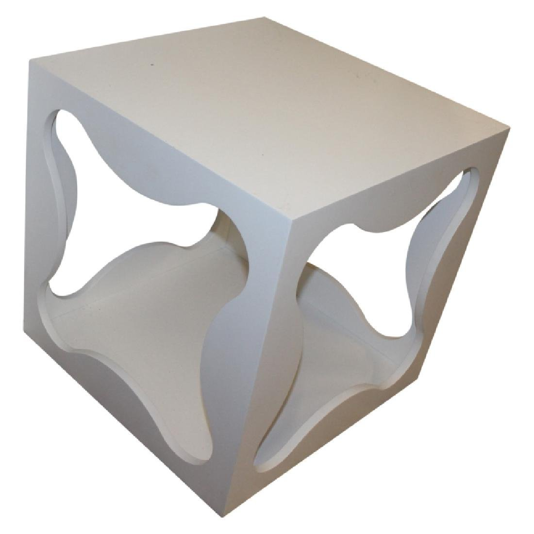 Pair of Modern Square Table Cubes - 2