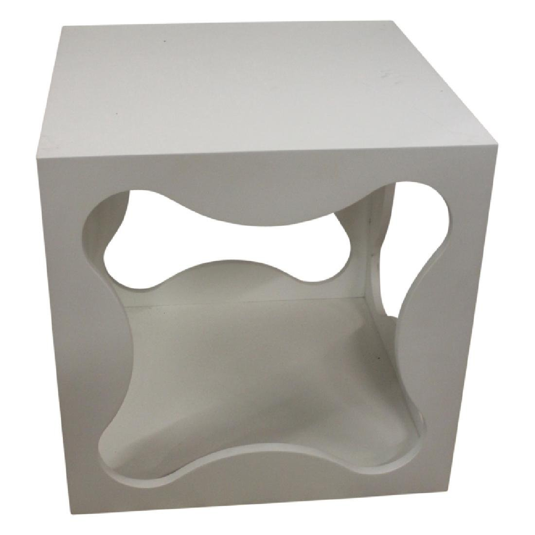 Pair of Modern Square Table Cubes - 3
