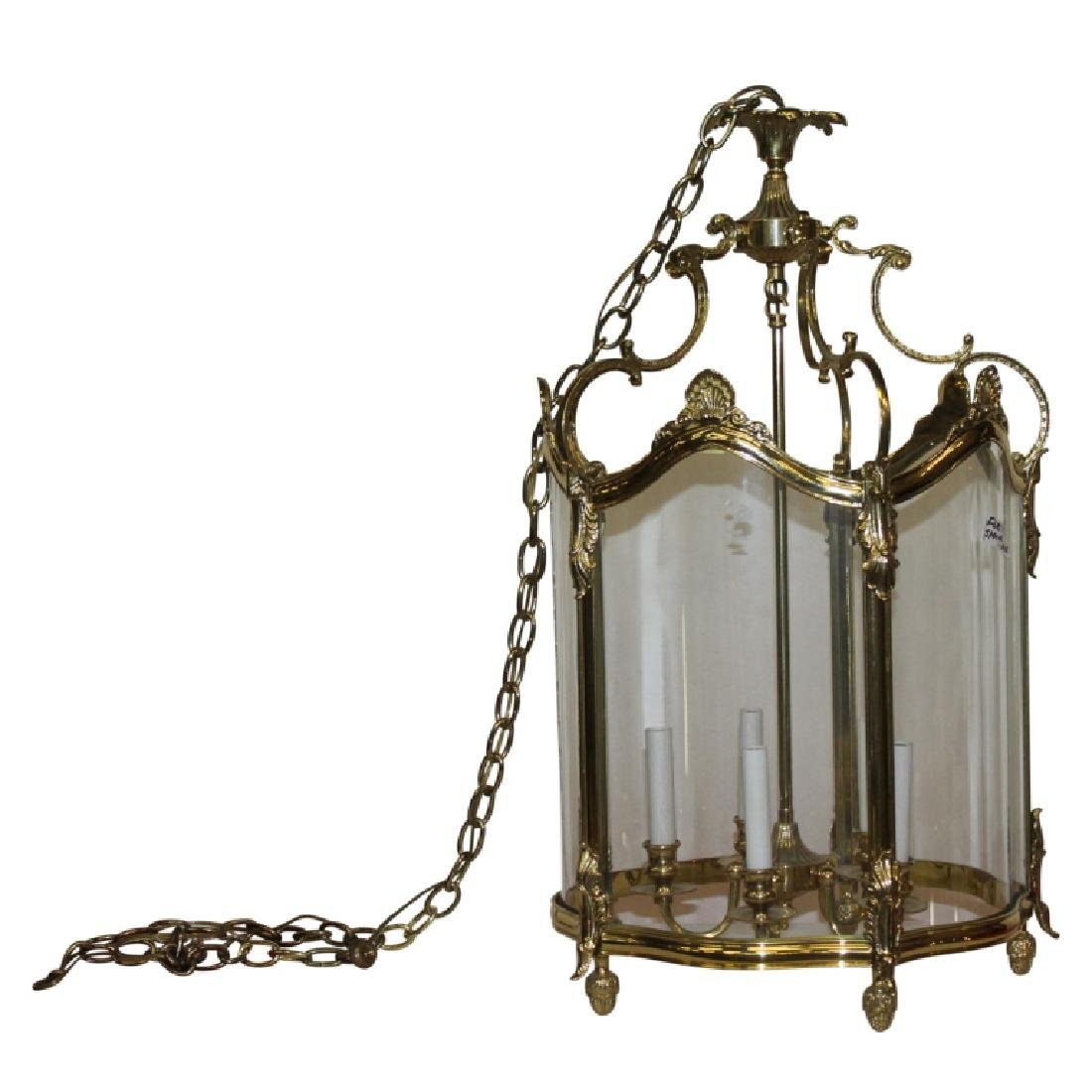 Gold Frame Glass Chandelier