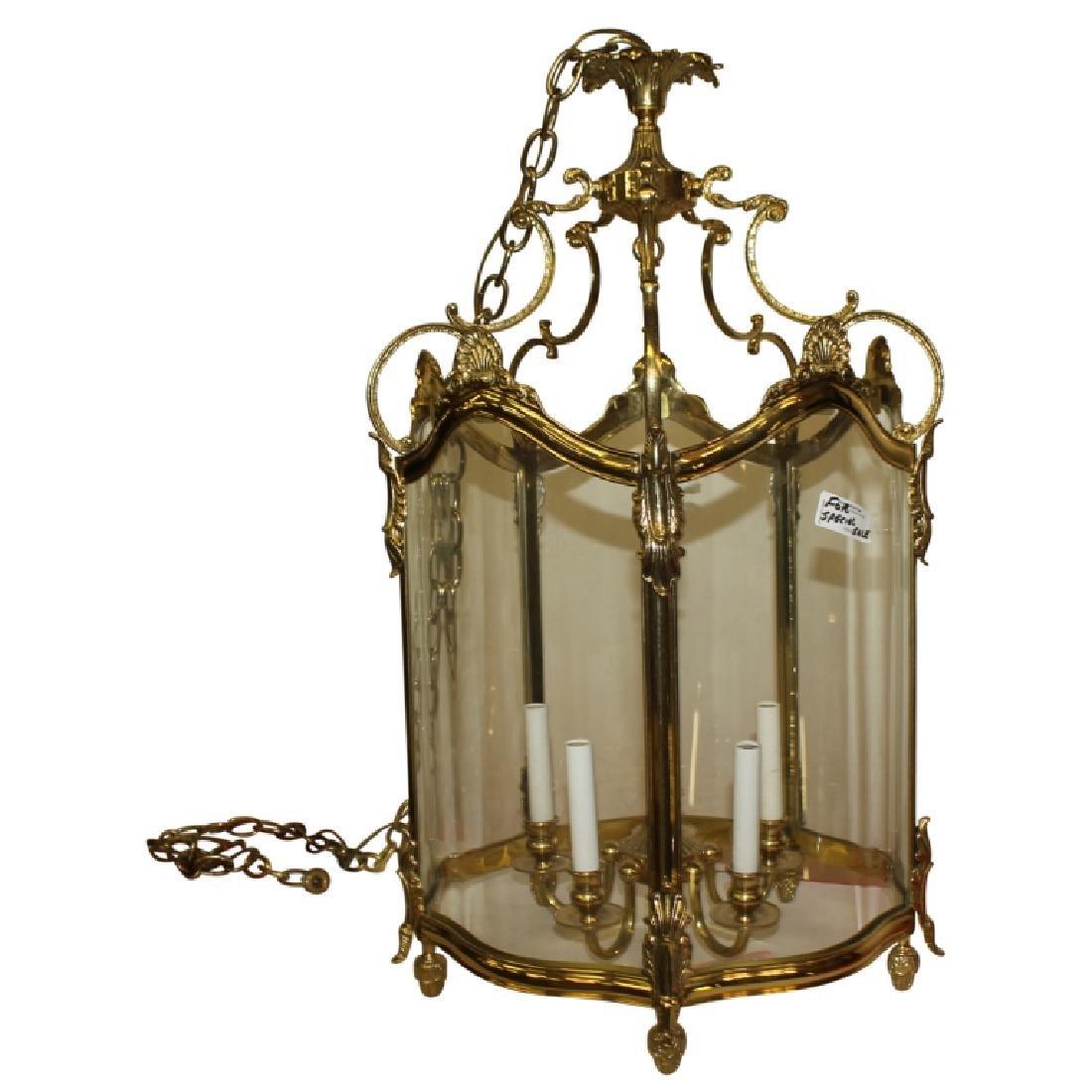 Gold Frame Glass Chandelier - 2