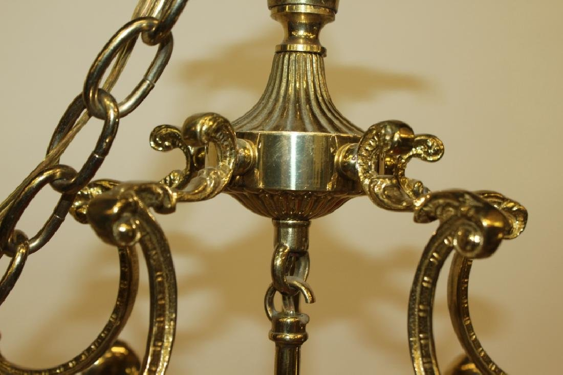 Gold Frame Glass Chandelier - 3