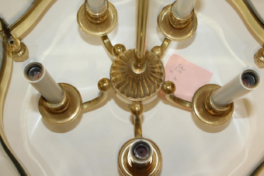 Gold Frame Glass Chandelier - 5