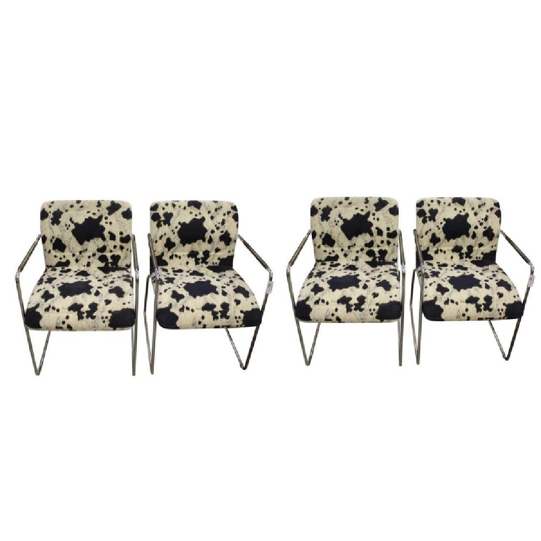 4 Tri-Mark Tulip Chrome Frame Dining Chairs