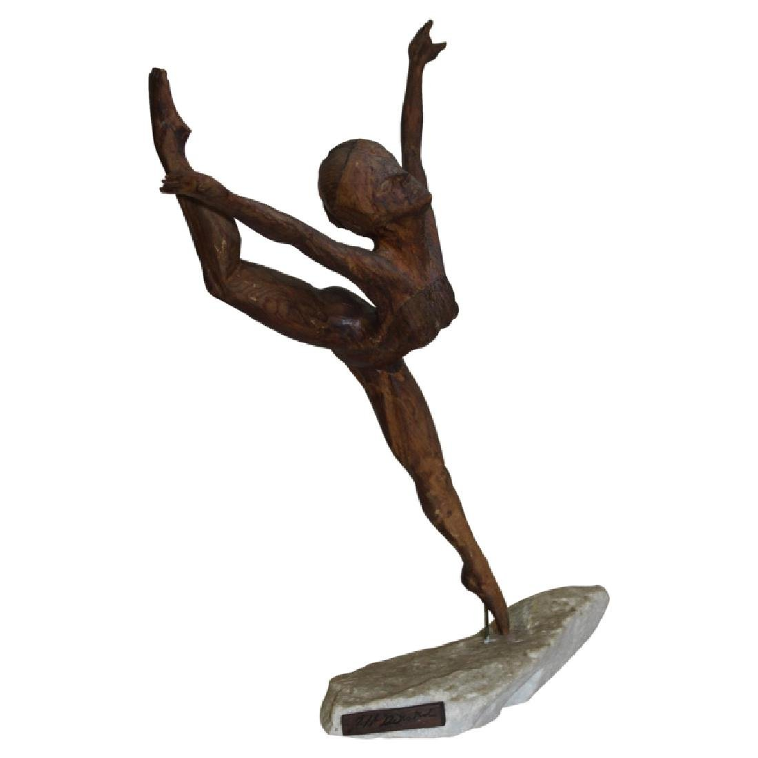 Ballerina Figure on Stone Base