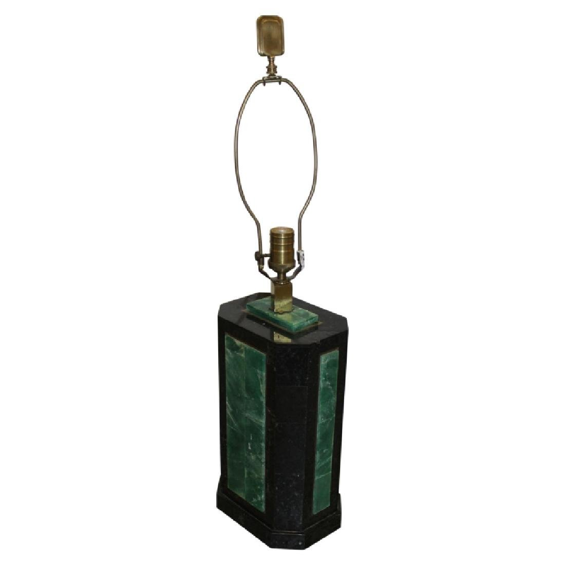 Black & Green Marble Art Deco Lamp