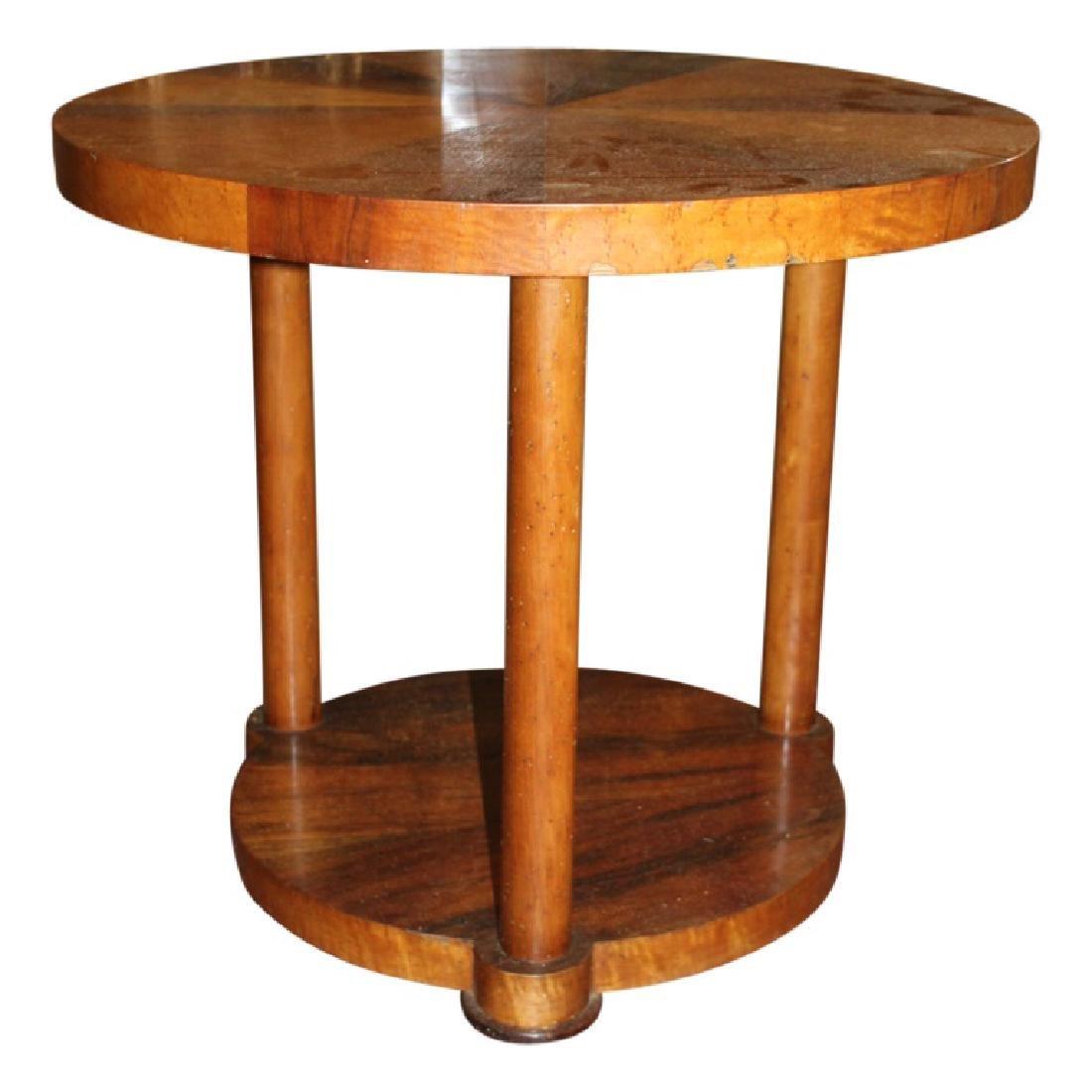 Modern Sunburst Biedermeier End Table