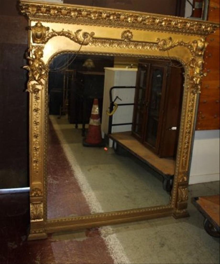 Gold Gilt Overmantel Baby Cherub Mirror