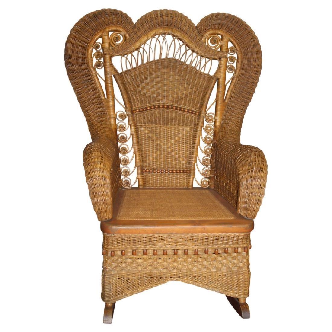 Heywood Wakefield Wicker Style Rocking Chair