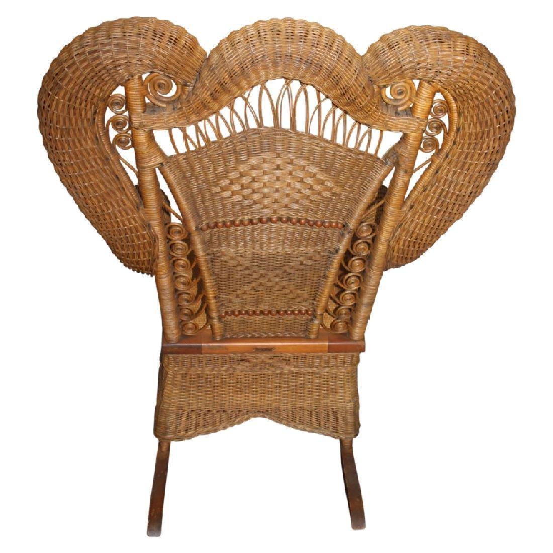 Heywood Wakefield Wicker Style Rocking Chair - 2
