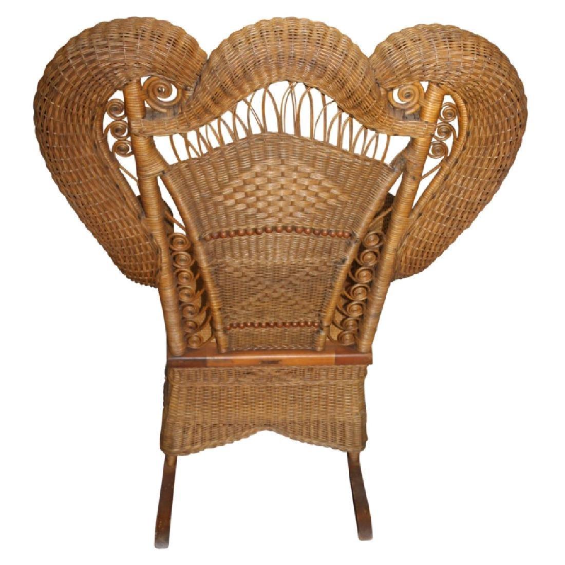 Heywood Wakefield Wicker Style Rocking Chair - 4