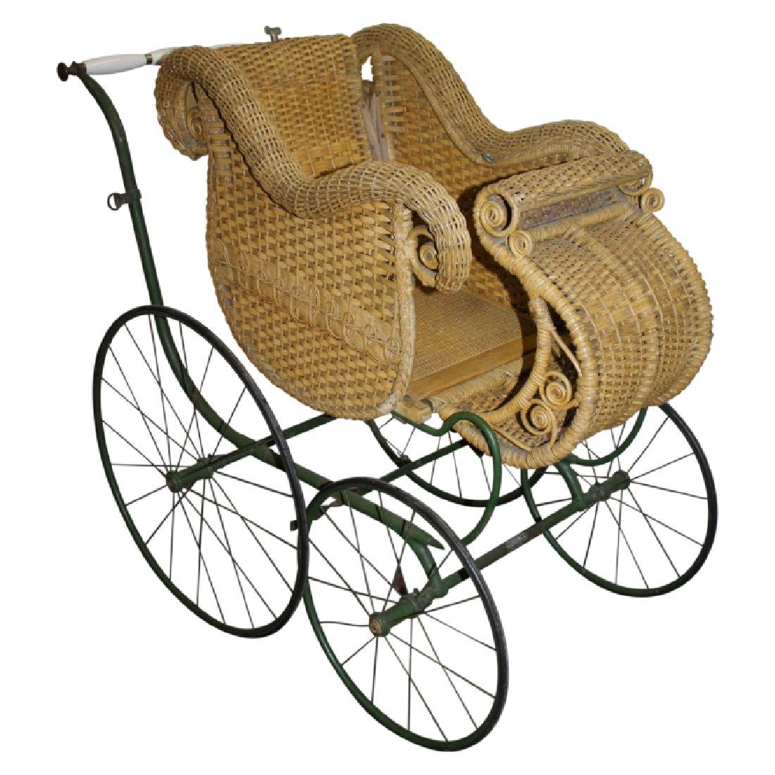 Heywood Wakefield Wicker Style Baby Carriage